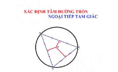 tìm tọa độ tâm đường tròn ngoại tiếp tam giác