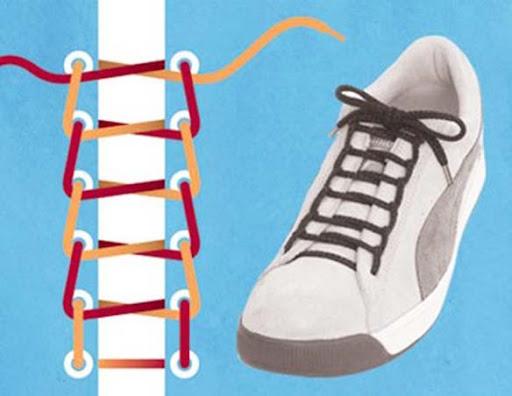 Cách thắt dây giày hình thang không khó để thực hiện